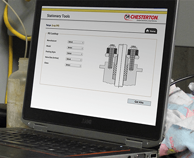 Chesterton Stationary Equipment Management Web Tool